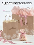 Retail Paper Shopping Bags – Brown Bag with Logo and Pink Ribbon