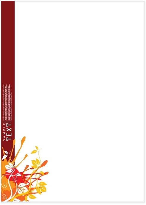 Full colour letterhead designing.
