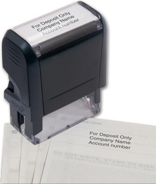 W102170 - Bank Endorsement Stamp, Self Inking
