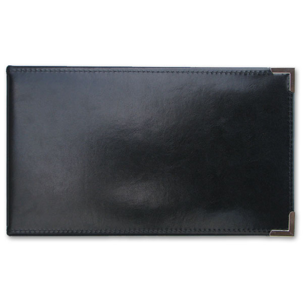 Black one-per-page cheque binder for manual cheques.