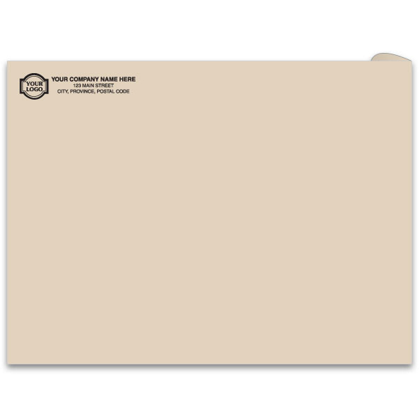 Kraft mailing envelope printed on natural kraft paper