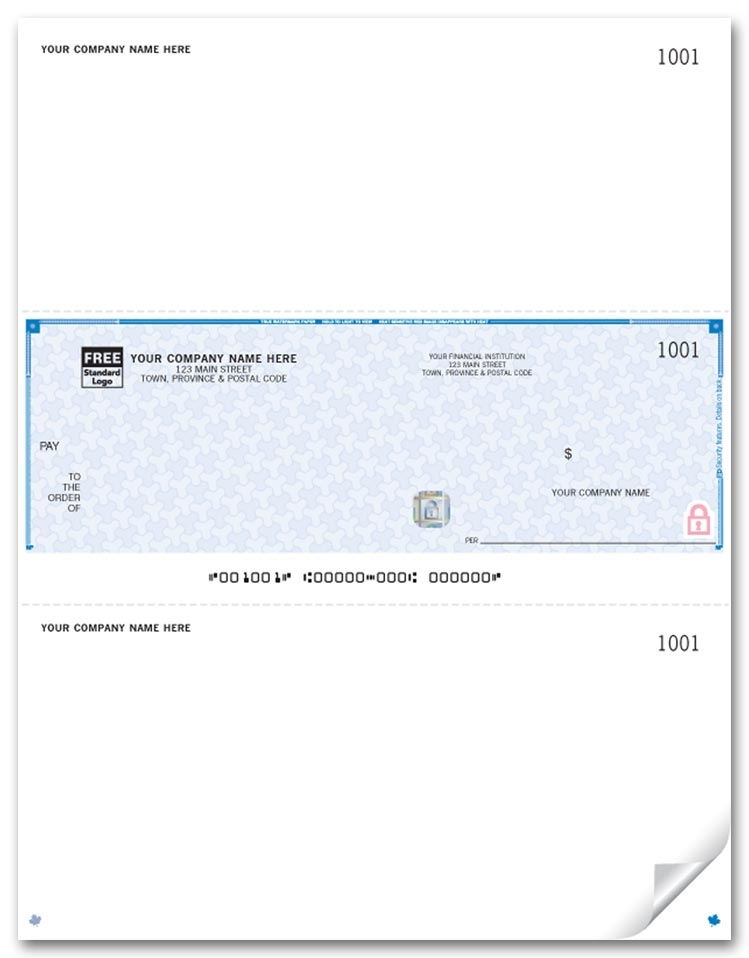 WHS9039 - Laser Middle Cheques, Premium Security
