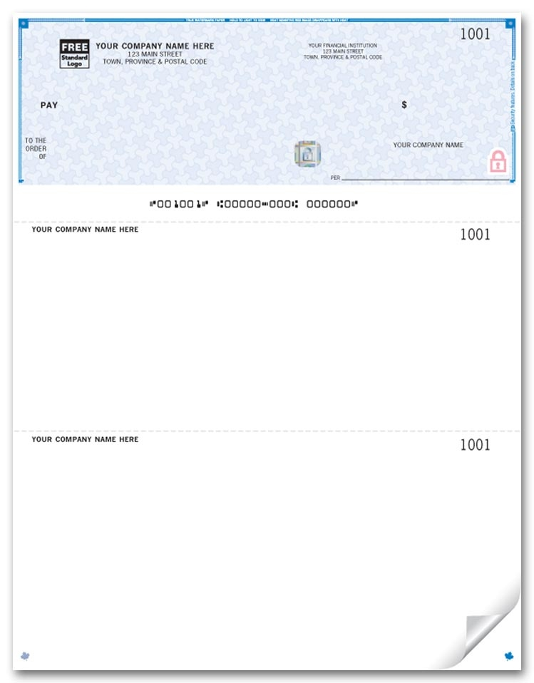 WHS9209 - Laser Top Cheques, Premium Security
