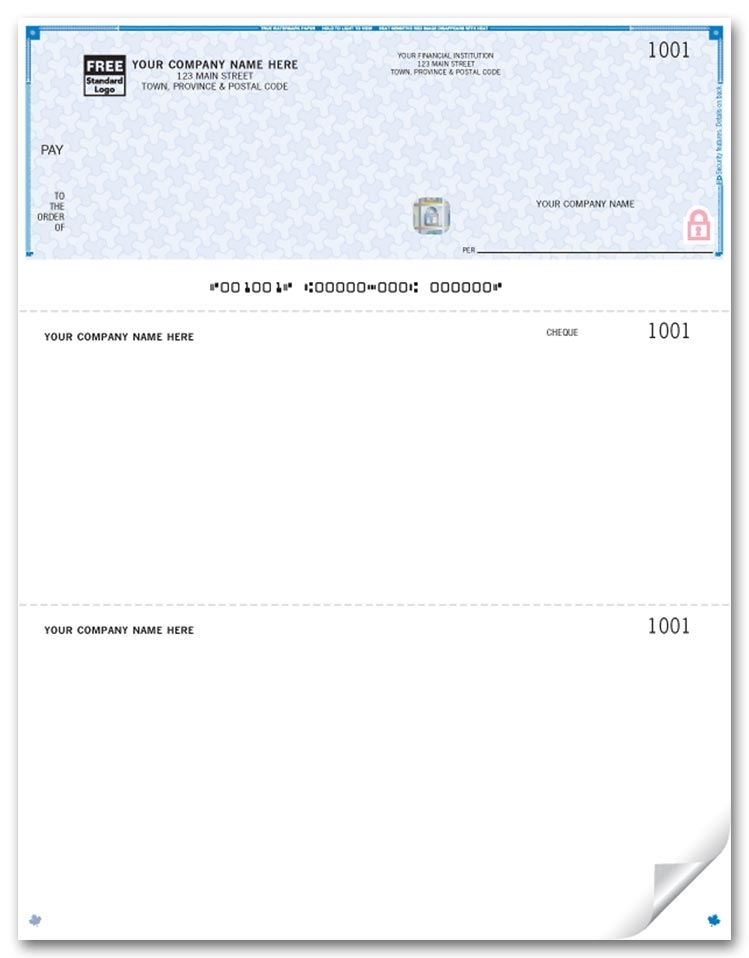 WHS9085 - Laser Top Cheques, Premium Security