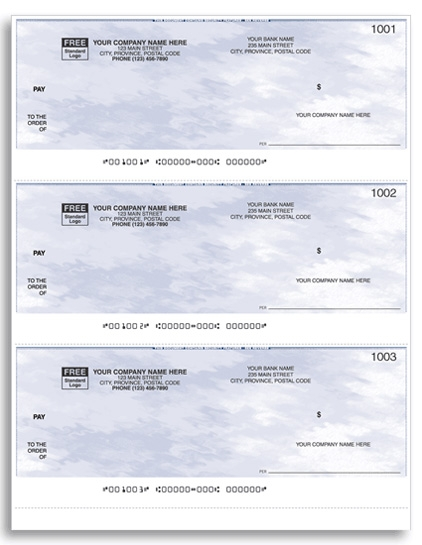 W9011 - Quickbooks® / Quicken® Laser Cheques, 3-Up