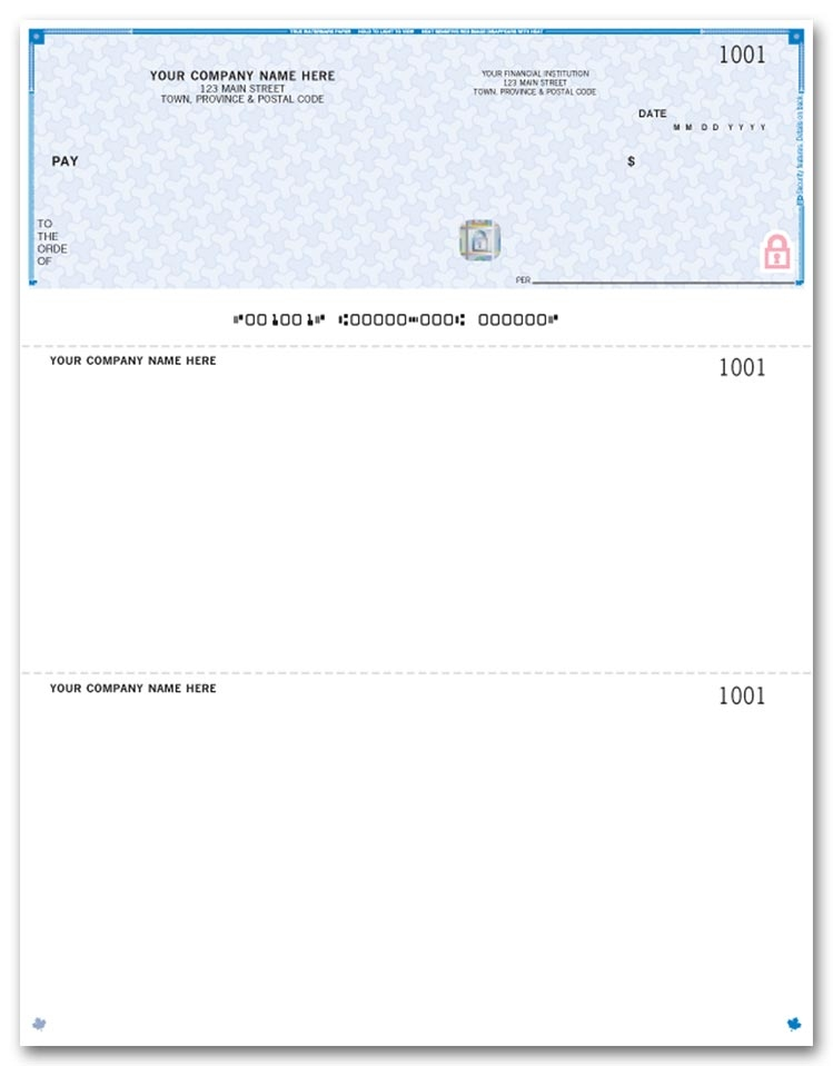 WHS9525 - Laser Cheques, Top, Premium Security