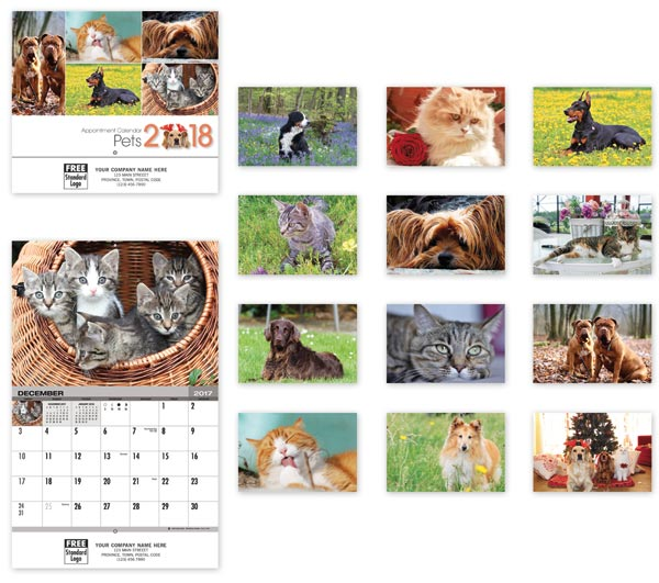 This 2018 calendar is designed for the dog and cat lover as it portrays cute pictures of dogs and cats all year long.