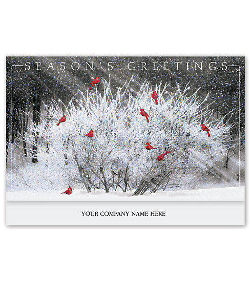 These beautiful Christmas cards are a delicate way to wish your clients the best. Personalize with your name on the front