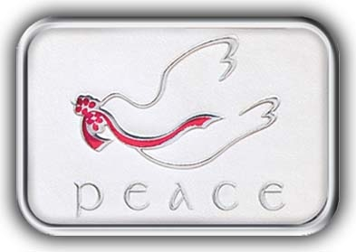 H1123 - Peace Foil Seals - Holiday Envelope Seals