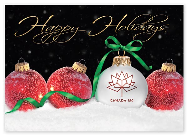 Celebrating 150 years of Canada with these custom holiday greeting cards.
