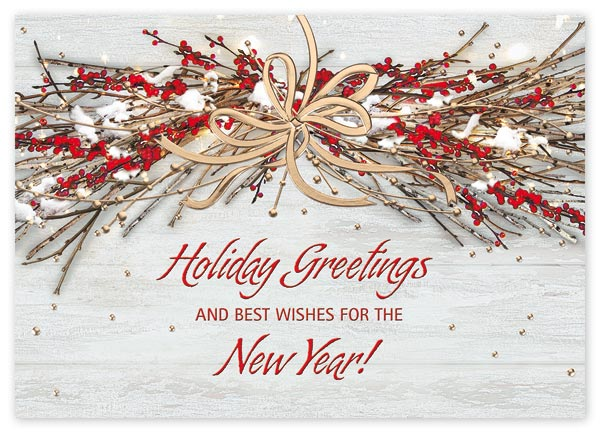 Custom printed holiday greeting cards for your company.