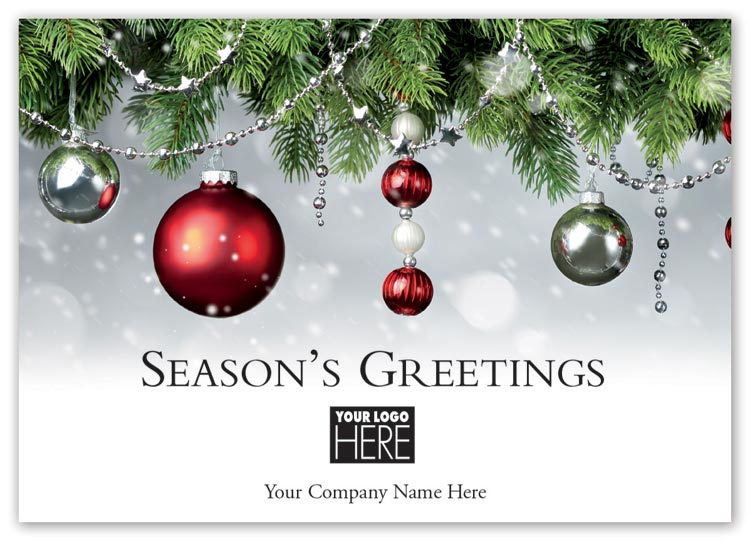 Custom holiday card with fire and ice full-color imagery