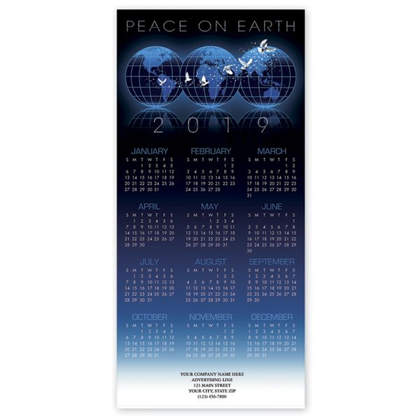 Promote your business with this 2019 calendar card printed with your business information and logo.