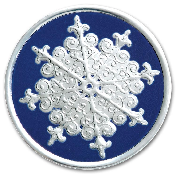 H8908S - Holiday Envelope Seals - Silver Snowflake Seals