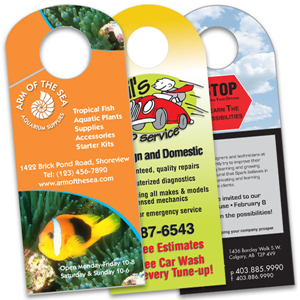 SP0200, Door Hangers - Colour Printing