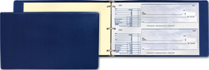 Cheque binder for 2-per-page cheques