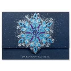 H15605, Flickering Flakes Holiday Cards