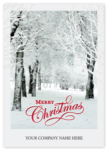 Business logo holiday cards holiday cards with company logo product h14607 h14607 after the snowfall christmas cards reheart Images