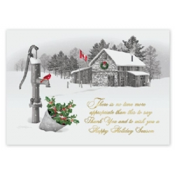 Perfect time to say thanks holiday cards