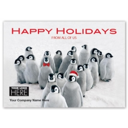 MT15019, Penguin Parade Holiday Logo Cards