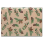 Holly & Cones Tissue Paper