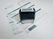 Self-Inking Privacy Stamp