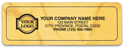Gold Mylar Labels
