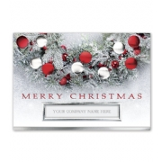Holiday Business Cards- Flocked and Festive