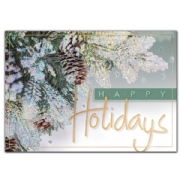 Evergreen & Gold Holiday Cards