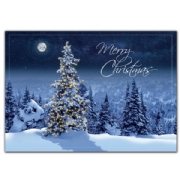Christmas greeting card with tree
