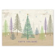 Pastel Pines Holiday Cards