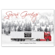 MT15033, On the Road Truck Driver Holiday Logo Cards